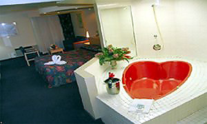 Heart shape Jacuzzi in white